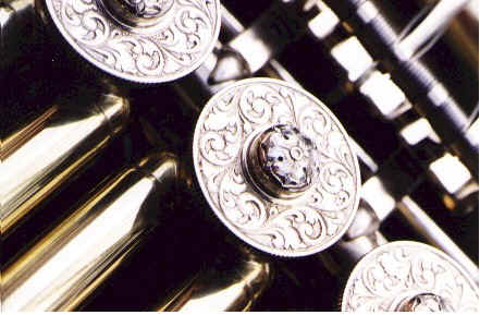 Detail of engraving on valve caps